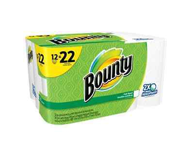 Bounty Absorbent Paper Towels Super Roll 74 Sheets 12 Rolls Clean Kitchen Home