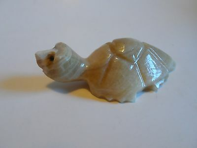 Hand Carved Stone (Onyx?) Turtle Sculpture, Figurine, 3 1/4""