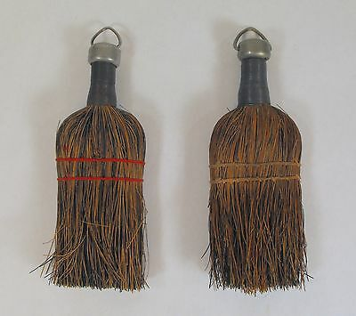 Primitive Vintage Old Farmhouse Hand Broom Wire Wrap Cap Straw Wisk Whisk 3