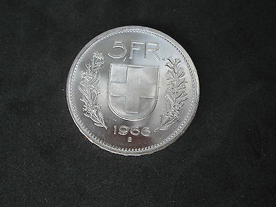 1966-B Switzerland 5 Francs Silver Coin--William Tell------MINT