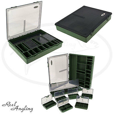 Large Tackle Box Storage System Carp Fishing Box  7+1  Hair Rig Board Included