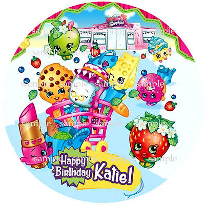 SHOPKINS Personalized Edible ICING Image Round CAKE Topper