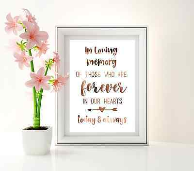 IN LOVING MEMORY wedding signage / wedding sign / For those who can't be here