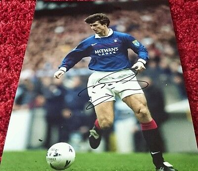 "Brian laudrup signed 16x12"" rangers photo / COA"
