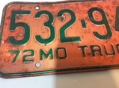 1972 truck license plate, Mo.