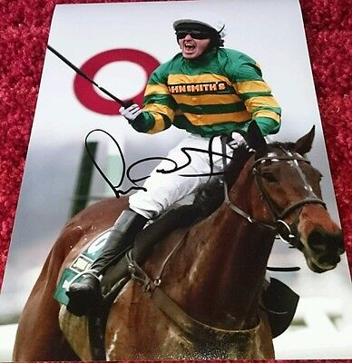 "AP McCoy signed 12x8"" horse racing photo / COA"