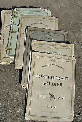 21 Vol. People's Pictorial Edition of the Confederate Soldier Published 1897