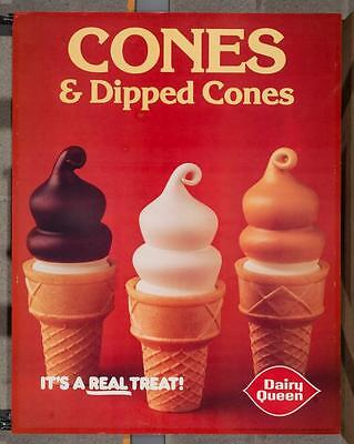 Vintage Dairy Queen Promotional Poster Cones & Dipped Cones 1981 dq2