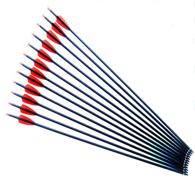 "30"" archery hunting Mix carbon arrow for Compound & recurve bow with point"