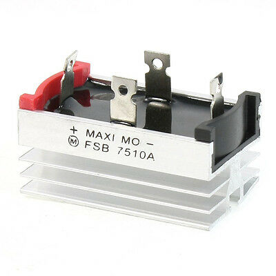 Aluminum Heatsink Base Single Phase Bridge Rectifier Diode 75A 1000V T1