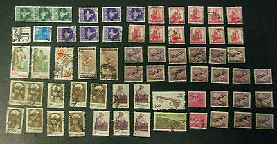 India Stamps Lot 1960s Map Carving Gnat Plane Refugee