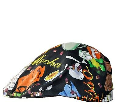 Cafe Attendant Hat Men's and Women's Multicolor Chef Beret Hat