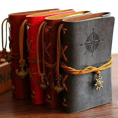 Retro Notebook Diary String Leaf Travel Leather Paper Journal Book Sketchbook