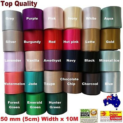 Double Side Satin Car Ribbon 50mm(5cm)Width x 6M Long For Wedding Cars