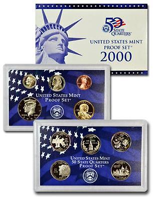 2000 S US Mint Proof 10 Coin Set with Box and COA