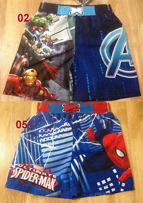 Boys Kids Marvel Avengers Spiderman Board Shorts Swimming Shorts Ages 2-8 Years