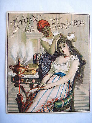 "Stunning Vintage Victorian Trade Card for ""Lyon's Kathairon"" for the Hair *"