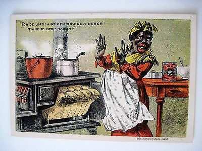 """Vintage Black Americana Victorian Trade Card for """"Canby's Star Baking Powder"""" *"""