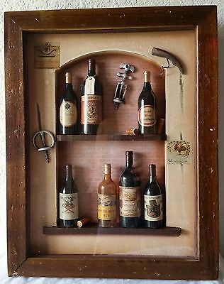 Nice Rustic Wooden Wine Winery  Deep Shadow Box 3d Framed Picture 12x16""