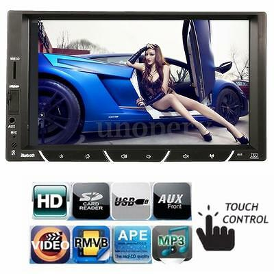 GPS 7'' Bluetooth 2 Din In Dash Touch Screen Car Stereo MP5 Player FM Radio USB