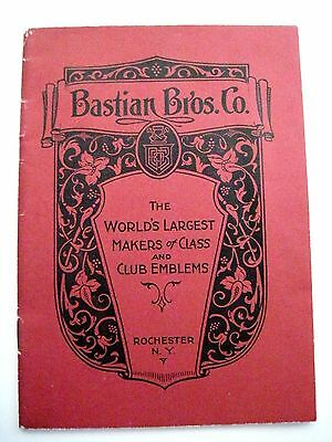 "Vintage ""Bastian Bros. Co."" Catalog for Class Rings and Club Emblems *"