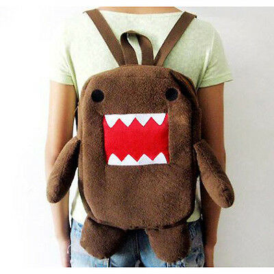 New Brown DOMO KUN Plush Backpack Toy Cute Sitting Style Baby Toy SH