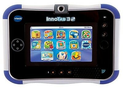 New Vtech Innotab 3S Kids Tablet Blue Wifi Cam & Bonus $20 Vtech Download Card