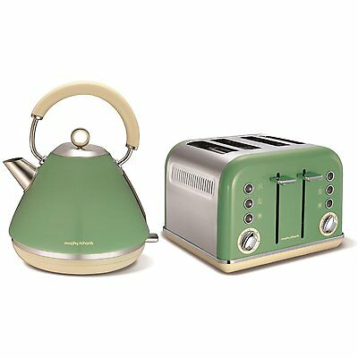 Morphy Richards 102011/242006 Sage Green Kettle & Toaster Set Brand NEW UK Stock