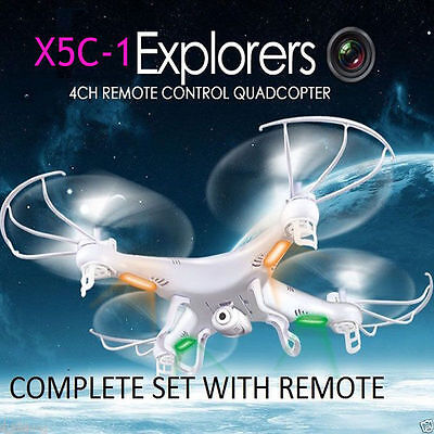 X5C-1 2.4Ghz Drone Fine Gyro 4CH Helicopter RC Quadcopter Syma with HD Camera