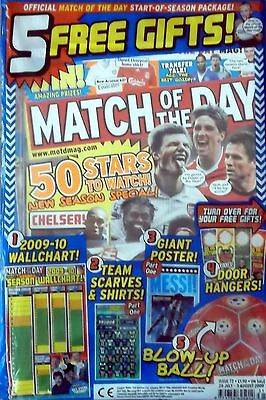 Match Of The Day issue 72 with 2009/10 Wallchart & Team scarves Part 1 Unopened