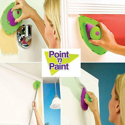 Point And Paint Multifunction Pads DIY Painting Kit Roller Set Room Clean NR