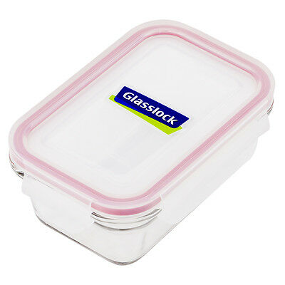 NEW Glasslock Tempered Glass Rectangular Food Container 485ml
