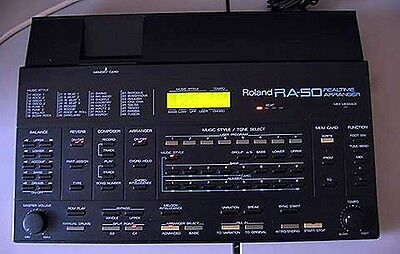 Roland Ra-50 Realtime Arranger & Power Supply Accordian Keyboard Guitar