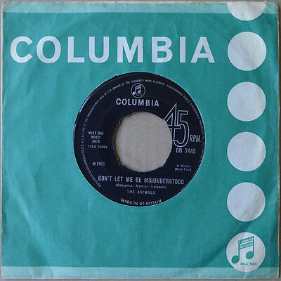 The Animals - Don't Let Me Be Misunderstood - England 1965 - VG++