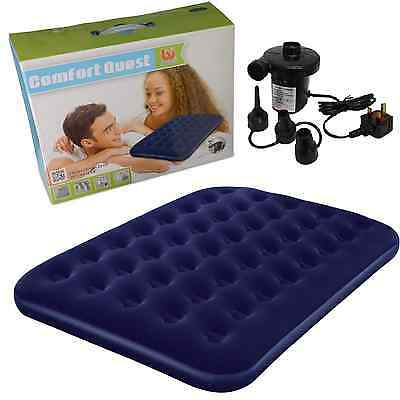Bestway Flocked Double Airbed Inflatable Air Bed Mattress Electric Pump