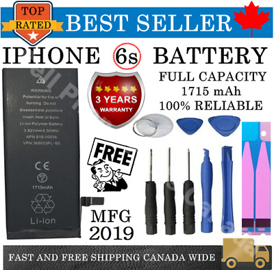 **NEW** iPhone 6S Replacement Battery 616-00033 1715 mAh with FREE TOOL KIT