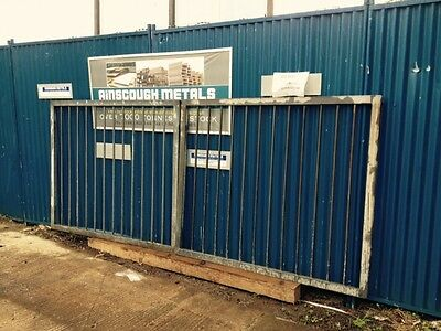 Used 3.6 Mtrs Wide  1.5 Mtrs High Galvanised Steel Gate - Security Gate - Site g