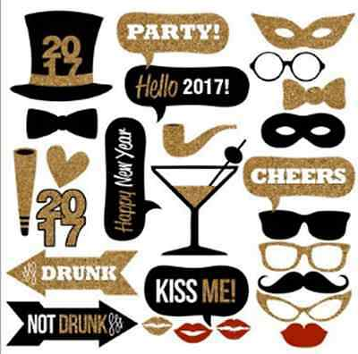 2017 New Year's Eve Party Photo Booth Props Mustache On A Stick Photography
