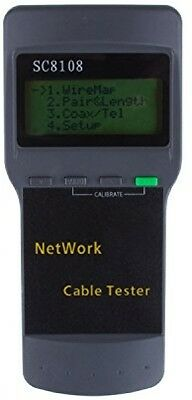 LemonBest® Network Cable Tester Meter RJ45 LAN Cable Phone Line Wire Tester
