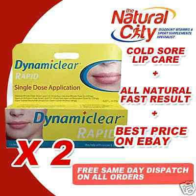DYNAMICLEAR RAPID Cold Sore Relief Single pack x 2 one breakout one application