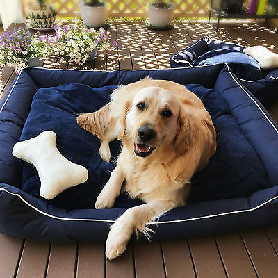 Pet Bed Mattress Dog Pad Mat Cushion Cotton Soft Extra Large Washable Heavy Duty