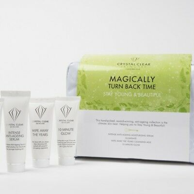 Crystal Clear Stay Young Set Anti-Ageing Illuminate Wipe Away Years 10 Min Glow