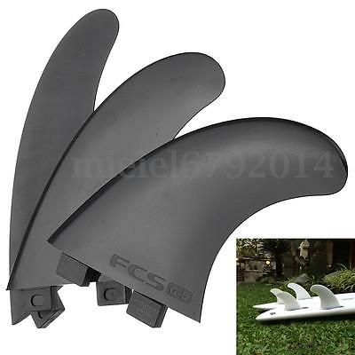 Set of 3 Surf Fins for G5 FCS Compatible Template Surfboard Fins Replacements