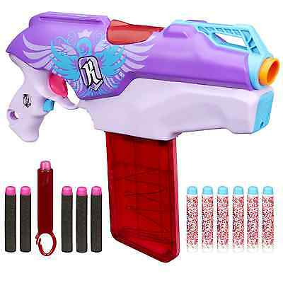 Nerf Rebelle Rapid Red Blaster Kids Girls Toy Gun Game Darts & Rifle, New New