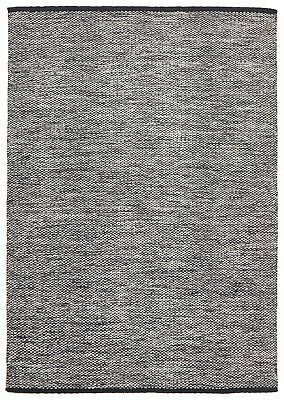 NEW Livvy Charcoal Black Flat Weave Rug