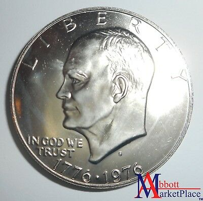 1976-S Bu Bicentennial Eisenhower 40% Silver Ike Dollar Fresh From Roll Lt2910