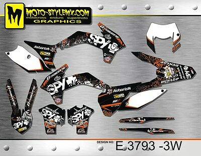 KTM EXC 125 250 350 450 530 2014 up to 2016 decals graphics kit Moto-StyleMX