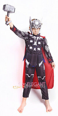 Marvel Avengers Ultron Thor Muscle Children Kids Boys Halloween Costume 3-8 Year