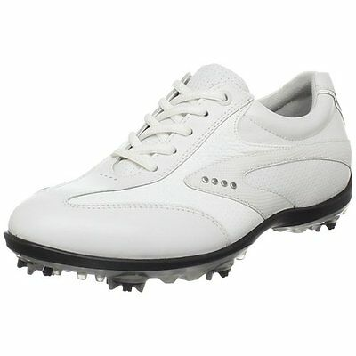 Ecco Womens Casual Cool Golf Shoes White Size 41 (UK 7.5)