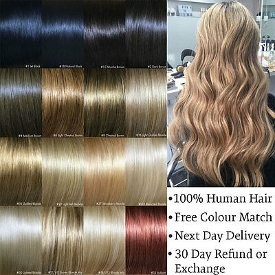 Clip in Hair Extensions Remy Human Hair Blonde Brown Black 16 20 22 24 26 inch